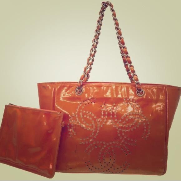 CHANEL Bags   Patent Perforated Cc Shopping Tote   Poshmark bbda13b119f
